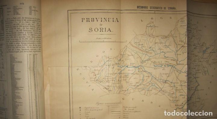 Diccionarios antiguos: Diccionario geográfico España Ultramar X 1886 Riera mapa Soria, Tarragona, Teruel, Toledo, Valencia - Foto 5 - 207745366