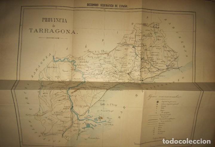 Diccionarios antiguos: Diccionario geográfico España Ultramar X 1886 Riera mapa Soria, Tarragona, Teruel, Toledo, Valencia - Foto 6 - 207745366