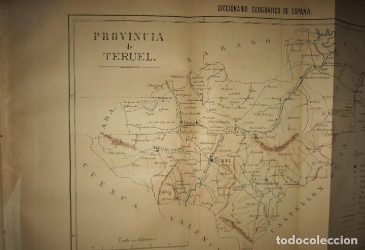 Diccionarios antiguos: Diccionario geográfico España Ultramar X 1886 Riera mapa Soria, Tarragona, Teruel, Toledo, Valencia - Foto 7 - 207745366