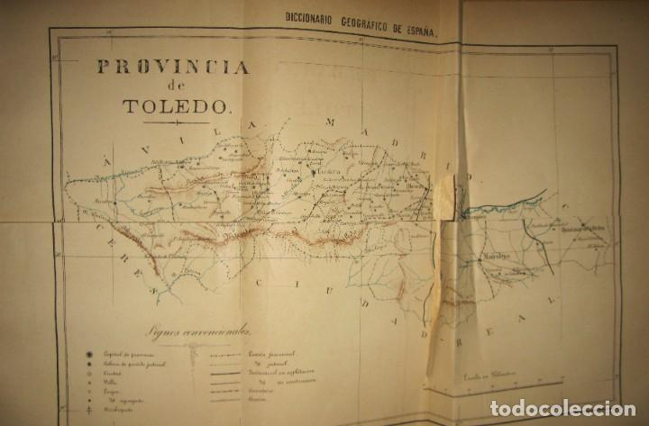 Diccionarios antiguos: Diccionario geográfico España Ultramar X 1886 Riera mapa Soria, Tarragona, Teruel, Toledo, Valencia - Foto 8 - 207745366