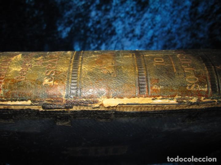 Diccionarios antiguos: Diccionario geográfico España Ultramar X 1886 Riera mapa Soria, Tarragona, Teruel, Toledo, Valencia - Foto 16 - 207745366