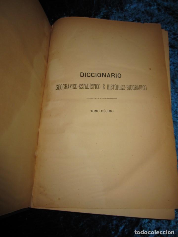 Diccionarios antiguos: Diccionario geográfico España Ultramar X 1886 Riera mapa Soria, Tarragona, Teruel, Toledo, Valencia - Foto 31 - 207745366