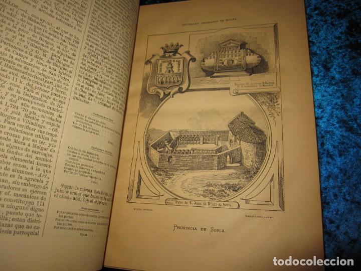 Diccionarios antiguos: Diccionario geográfico España Ultramar X 1886 Riera mapa Soria, Tarragona, Teruel, Toledo, Valencia - Foto 22 - 207745366