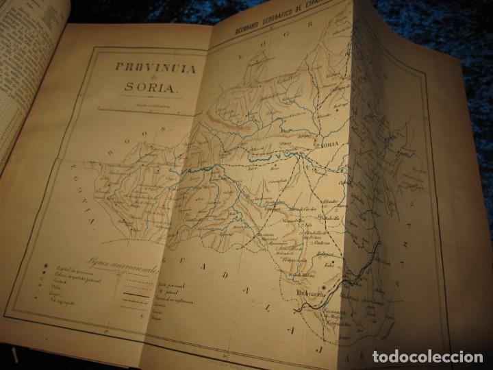 Diccionarios antiguos: Diccionario geográfico España Ultramar X 1886 Riera mapa Soria, Tarragona, Teruel, Toledo, Valencia - Foto 35 - 207745366