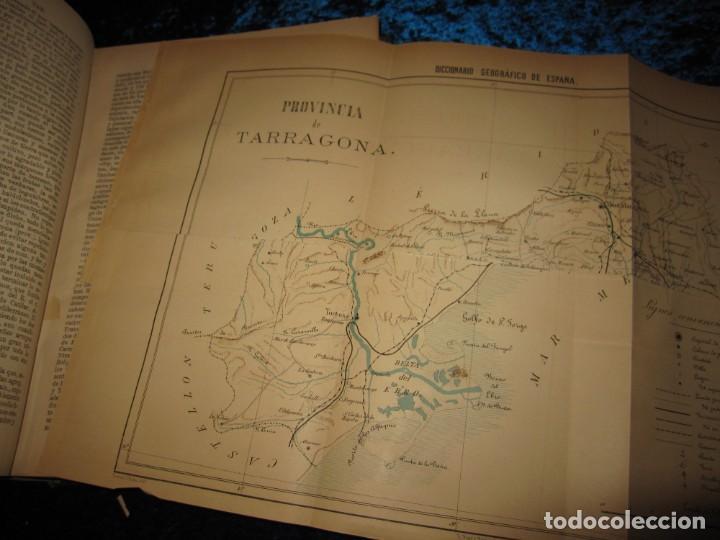 Diccionarios antiguos: Diccionario geográfico España Ultramar X 1886 Riera mapa Soria, Tarragona, Teruel, Toledo, Valencia - Foto 36 - 207745366