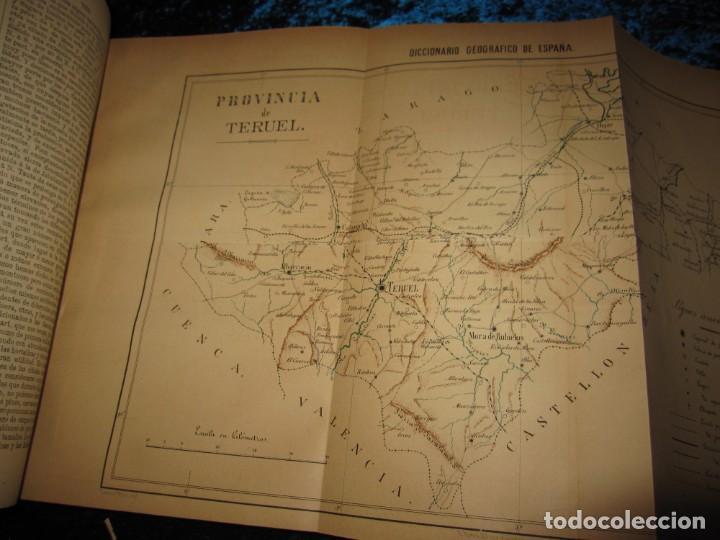 Diccionarios antiguos: Diccionario geográfico España Ultramar X 1886 Riera mapa Soria, Tarragona, Teruel, Toledo, Valencia - Foto 38 - 207745366
