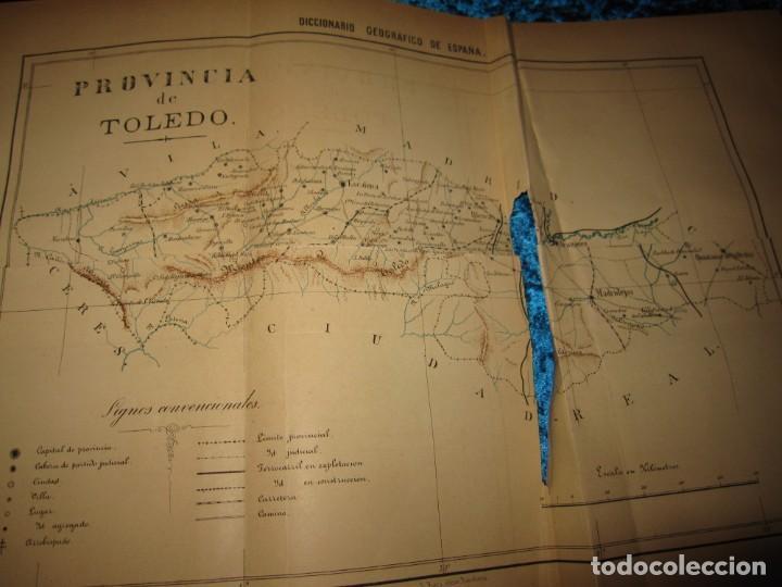 Diccionarios antiguos: Diccionario geográfico España Ultramar X 1886 Riera mapa Soria, Tarragona, Teruel, Toledo, Valencia - Foto 39 - 207745366