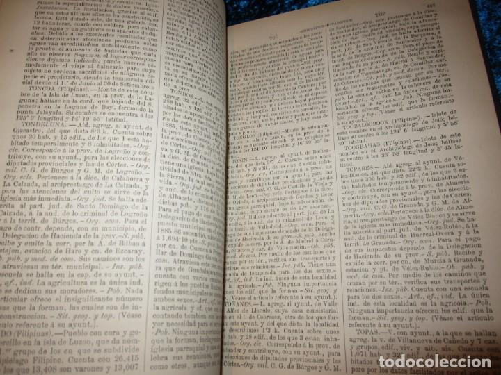 Diccionarios antiguos: Diccionario geográfico España Ultramar X 1886 Riera mapa Soria, Tarragona, Teruel, Toledo, Valencia - Foto 41 - 207745366
