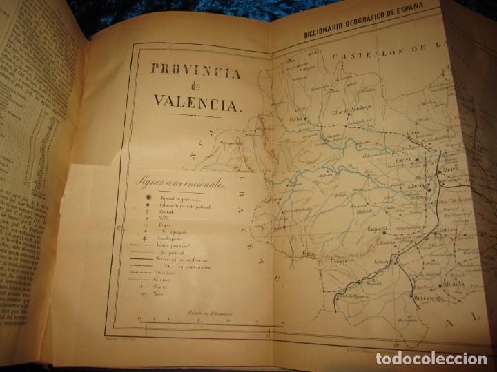 Diccionarios antiguos: Diccionario geográfico España Ultramar X 1886 Riera mapa Soria, Tarragona, Teruel, Toledo, Valencia - Foto 42 - 207745366