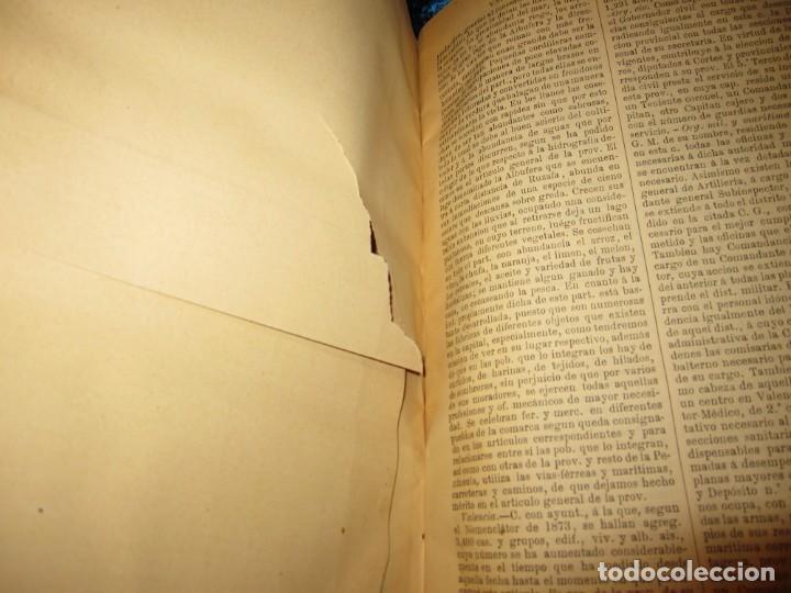 Diccionarios antiguos: Diccionario geográfico España Ultramar X 1886 Riera mapa Soria, Tarragona, Teruel, Toledo, Valencia - Foto 43 - 207745366