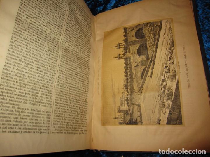 Diccionarios antiguos: Diccionario geográfico España Ultramar X 1886 Riera mapa Soria, Tarragona, Teruel, Toledo, Valencia - Foto 19 - 207745366