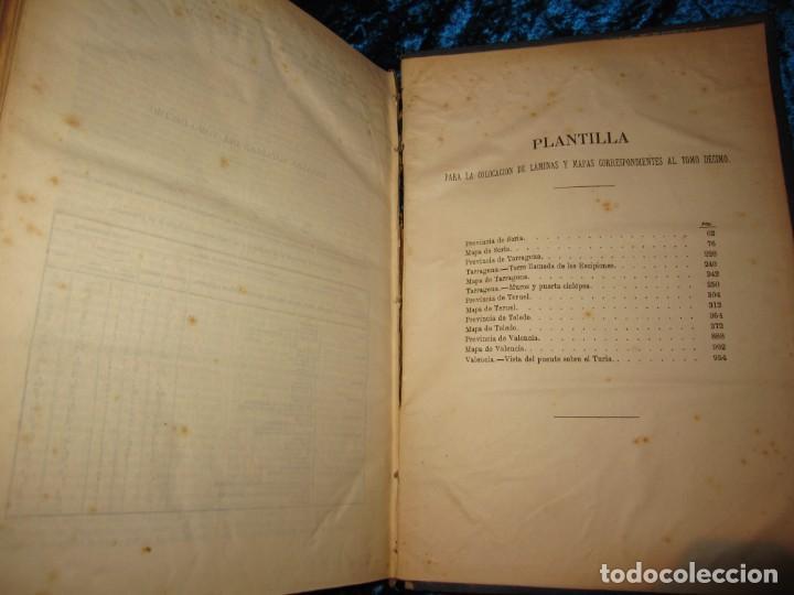 Diccionarios antiguos: Diccionario geográfico España Ultramar X 1886 Riera mapa Soria, Tarragona, Teruel, Toledo, Valencia - Foto 46 - 207745366