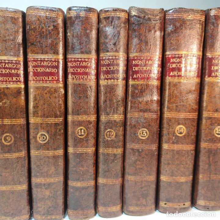 Diccionarios antiguos: Diccionario apostólico. Fr. Jacinto Montargon. 15 tomos. Imp. de Don Benito Cano. Madrid. 1745. - Foto 4 - 241781195