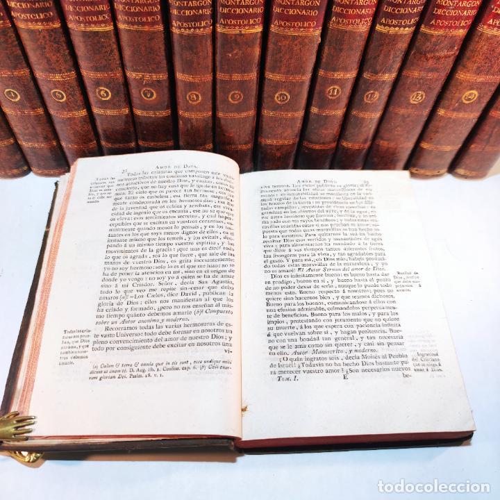Diccionarios antiguos: Diccionario apostólico. Fr. Jacinto Montargon. 15 tomos. Imp. de Don Benito Cano. Madrid. 1745. - Foto 13 - 241781195