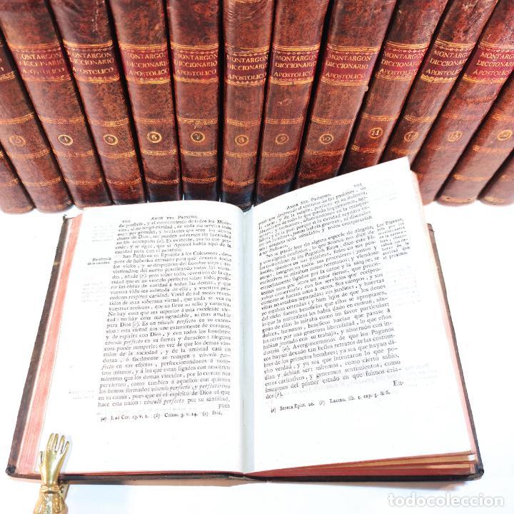 Diccionarios antiguos: Diccionario apostólico. Fr. Jacinto Montargon. 15 tomos. Imp. de Don Benito Cano. Madrid. 1745. - Foto 15 - 241781195