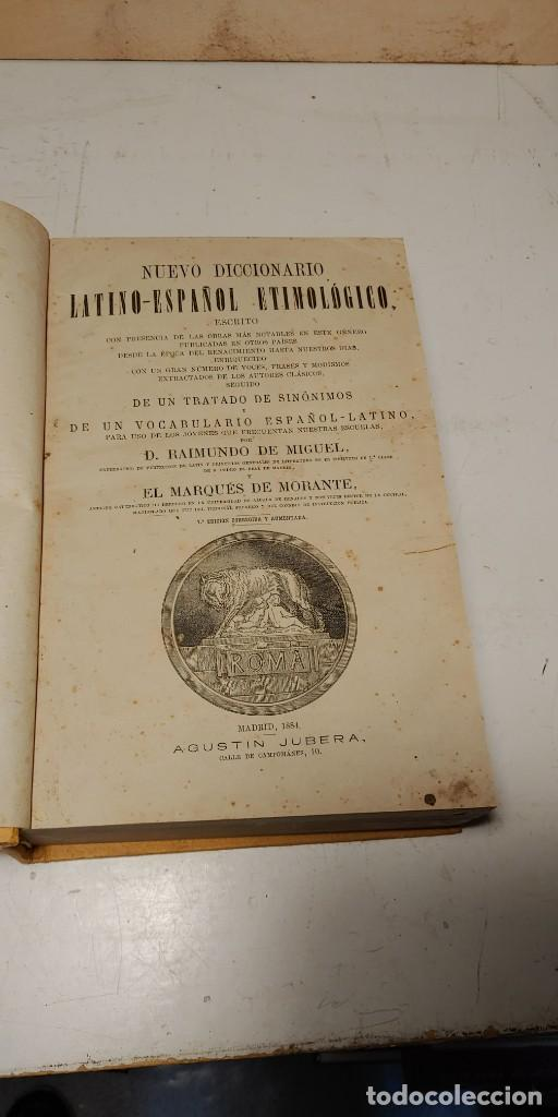 Diccionarios antiguos: Nuevo diccionario latino-español etimologico, 1884, D. Raimundo de Miquel, pymy t - Foto 3 - 241851485