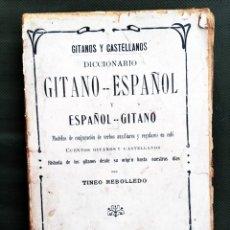 Libri antichi: DICCIONARIO GITANO. Lote 242335075