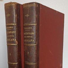 Diccionarios antiguos: DICCIONARI DE LA LENGUA CATALANA AB LA CORRESPONDENCIA CASTELLANA. D. PERE LABERNIA Y ESTELLER.. Lote 242884300