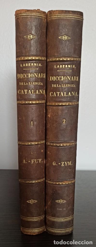 Diccionarios antiguos: DICCIONARI DE LA LENGUA CATALANA AB LA CORRESPONDENCIA CASTELLANA. D. PERE LABERNIA Y ESTELLER. - Foto 2 - 242884300