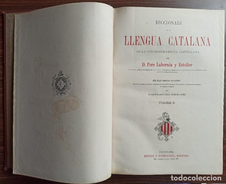 Diccionarios antiguos: DICCIONARI DE LA LENGUA CATALANA AB LA CORRESPONDENCIA CASTELLANA. D. PERE LABERNIA Y ESTELLER. - Foto 11 - 242884300