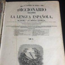 Diccionarios antiguos: DICCIONARIO ENCICLOPÉDICO DE LA LENGUA ESPAÑOLA. IMPRENTA GASPAR Y ROIG. TOMO 2. 1855 PIEL. Lote 244516655