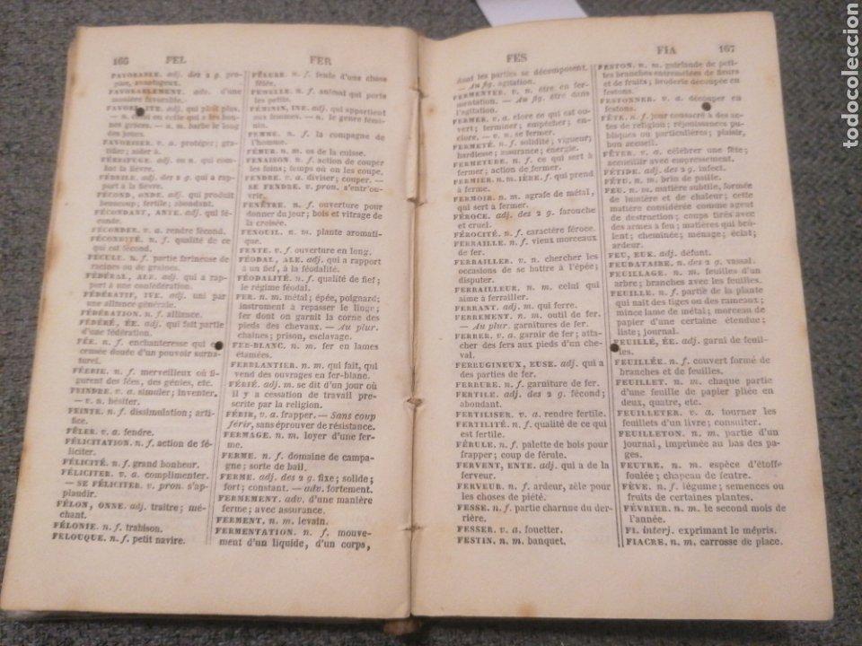 Diccionarios antiguos: Petit Dictionnaire française. G. Beleze. Imp. Jules Delalain. Paris, 1857. Cinquième éd. - Foto 3 - 244968665