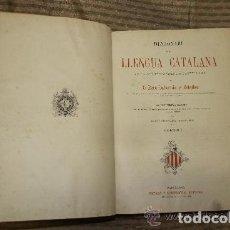 Diccionarios antiguos: DICCIONARI DE LA LLENGUA CATALANA. PERE LABERNIA. EDIT. ESPASA. SIN FECHA. 2 VOL.. Lote 245778715