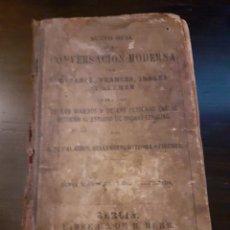 Diccionarios antiguos: LIBRO ANTIGUO 1878 TRADUCTOR DE EPOCA PARA DIALOGOS EN ESPAÑOL, FRANCES, INGLES Y ALEMAN. Lote 245929865
