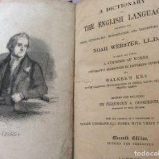 Diccionarios antiguos: NOAH WEBSTER - A DICTIONARY OF THE ENGLISH LANGUAGE EXHIBITING THE ORIGIN...1869. MUY ESCASO. Lote 246862925