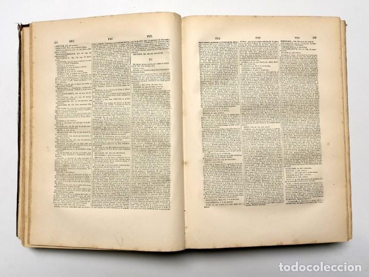 Diccionarios antiguos: NUMULITE E0040 Novísimo diccionario de la lengua castellana Sinónimos Rima Paris - Foto 3 - 248119775
