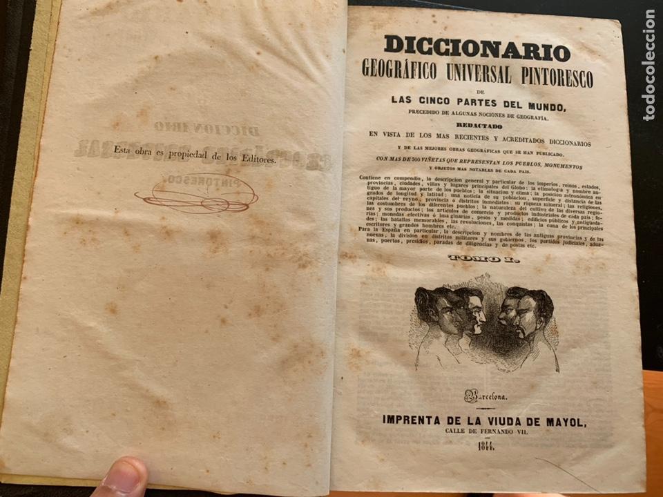 Diccionarios antiguos: Diccionario geográfico universal pintoresco de los cinco partes del mundo - Foto 2 - 248423225