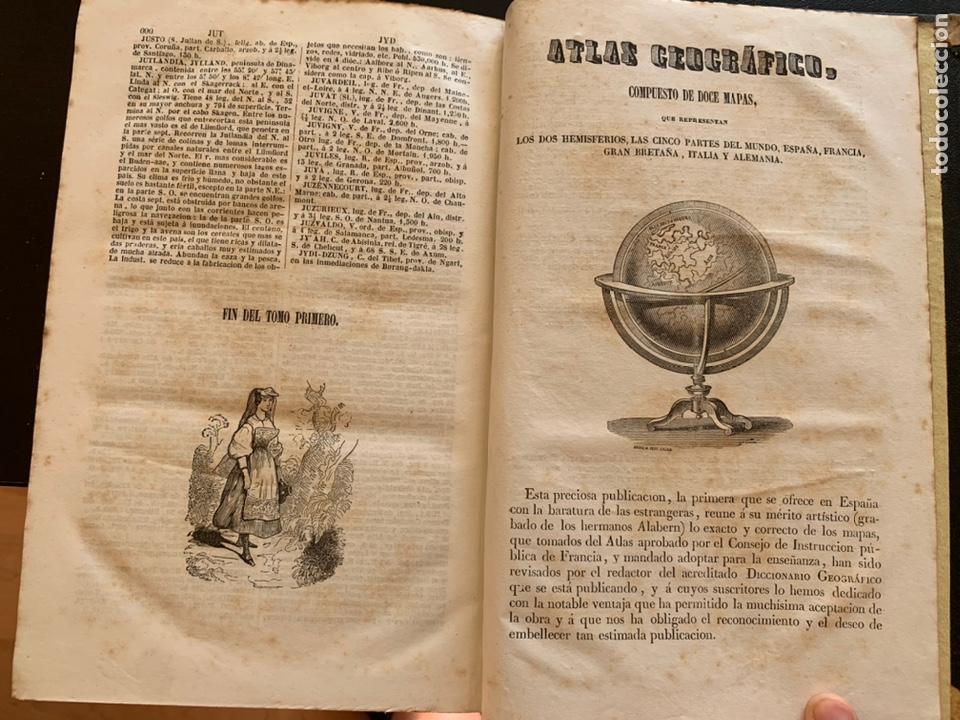 Diccionarios antiguos: Diccionario geográfico universal pintoresco de los cinco partes del mundo - Foto 4 - 248423225