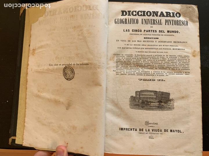 Diccionarios antiguos: Diccionario geográfico universal pintoresco de los cinco partes del mundo - Foto 5 - 248423225