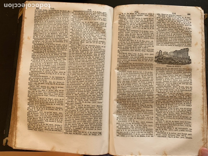 Diccionarios antiguos: Diccionario geográfico universal pintoresco de los cinco partes del mundo - Foto 6 - 248423225