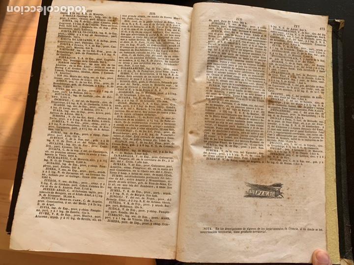 Diccionarios antiguos: Diccionario geográfico universal pintoresco de los cinco partes del mundo - Foto 7 - 248423225