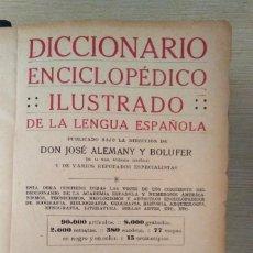 Diccionarios antiguos: DICCIONARIO ENCICLOPÉDICO ILUSTRADO DE LA LENGUA ESPAÑOLA 1927 RAMÓN SOPENA. Lote 249257590
