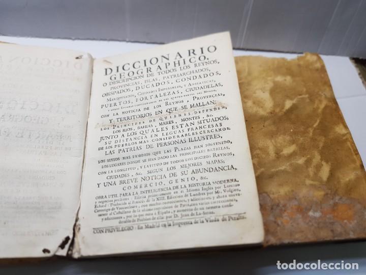 DICCIONARIO O DESCRIPCIÓN DE TODOS LOS REINOS ,OBISPADOS, DUCADOS ETC JUAN DE LA SERNA 1750 (Libros Antiguos, Raros y Curiosos - Diccionarios)