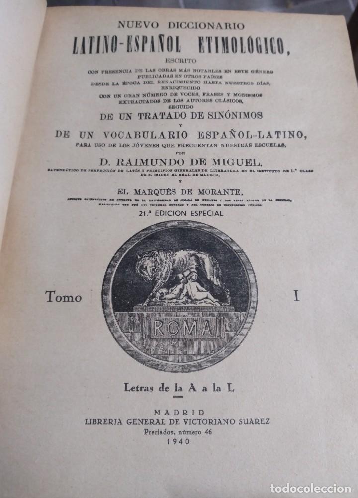 DICCIONARIO LATIN-ESPAÑOL ETIMOLOGICO: 3 TOMOS (Libros Antiguos, Raros y Curiosos - Diccionarios)