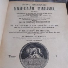 Diccionarios antiguos: DICCIONARIO LATIN-ESPAÑOL ETIMOLOGICO: 3 TOMOS. Lote 253168270