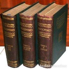 Libri antichi: DICCIONARIO ENCICLOPÉDICO ABREVIADO 3T DE ED. ESPASA CALPE EN MADRID 1935 3ª EDICIÓN. Lote 253598225