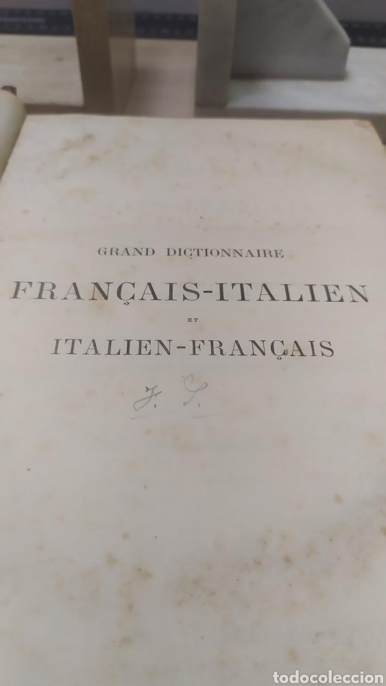 Diccionarios antiguos: Diccionario Francais Italien, Ferrari - Foto 2 - 255985490