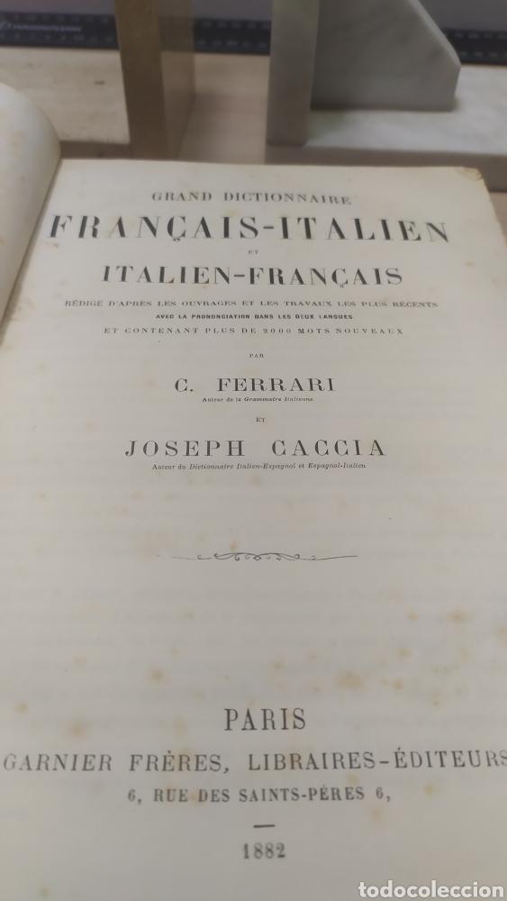 Diccionarios antiguos: Diccionario Francais Italien, Ferrari - Foto 3 - 255985490