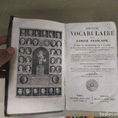 Diccionarios antiguos: 1856. NOUVEAU VOCABULAIRE DE LA LANGUE FRANÇAISE - SAUGER-PRÉNEUF. Lote 256099600