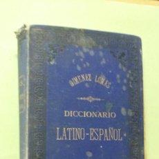 Diccionarios antiguos: DICCIONARIO MANUAL LATINO - ESPAÑOL. FRANCISCO GIMÉNEZ LOMAS. Lote 257422220