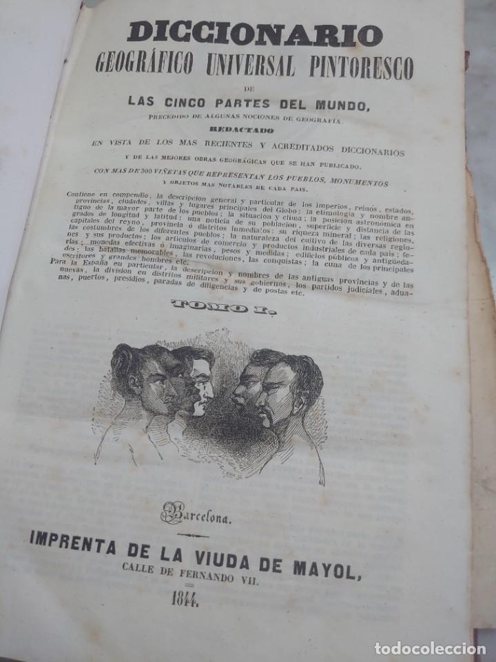 PRPM 60 DICCIONARIO GEOGRAFICO UNIVERSAL PINTORESCO TOMO 1 1844 (Libros Antiguos, Raros y Curiosos - Diccionarios)