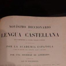 Diccionarios antiguos: NOVISIMO DICCIONARIO DE LA LENGUA CASTELLANA. 1884. PARIS. ED GARNIER. Lote 266331798