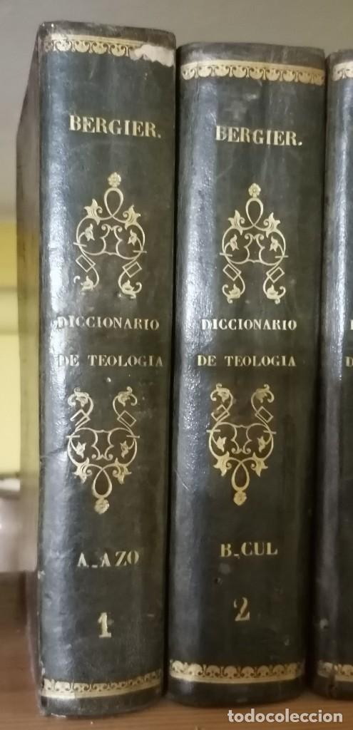 Diccionarios antiguos: LIBROS DICCIONARIO ENCICLOPÉDICO DE TEOLOGIA. BERGIER. 1831-1835 - Foto 2 - 267705234