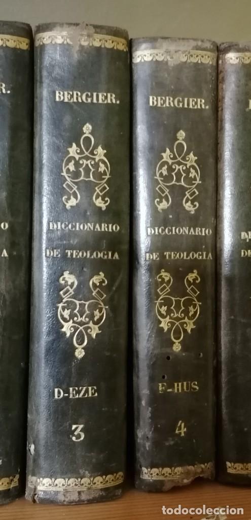 Diccionarios antiguos: LIBROS DICCIONARIO ENCICLOPÉDICO DE TEOLOGIA. BERGIER. 1831-1835 - Foto 3 - 267705234