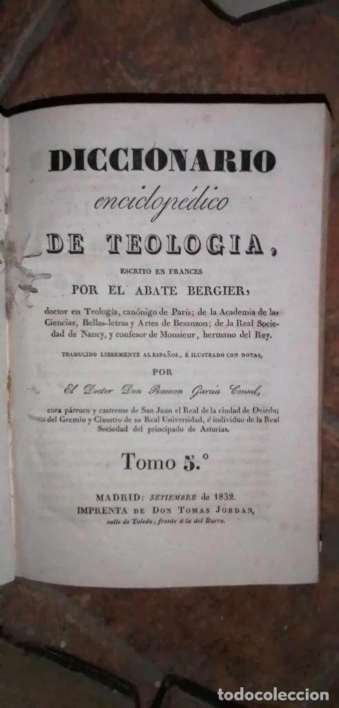 Diccionarios antiguos: LIBROS DICCIONARIO ENCICLOPÉDICO DE TEOLOGIA. BERGIER. 1831-1835 - Foto 34 - 267705234