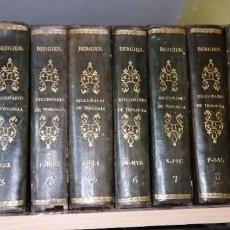 Diccionarios antiguos: LIBROS DICCIONARIO ENCICLOPÉDICO DE TEOLOGIA. BERGIER. 1831-1835. Lote 267705234